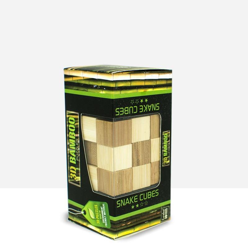 Puzzle Bambú Cubo serpiente 3D