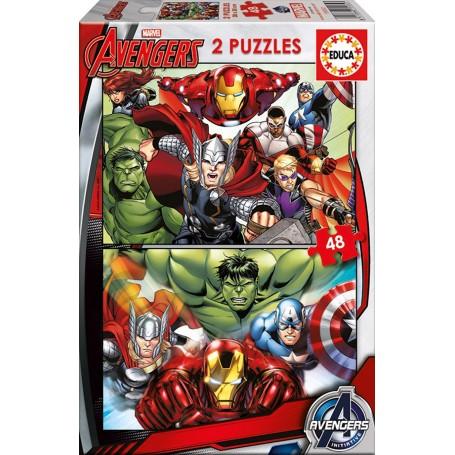 Puzzle Educa Los Vengadores 2x48 Piezas