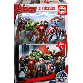 Puzzle Educa Los Vengadores 2x100 Piezas