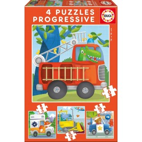 Puzzle Educa Patrulla de rescate Progresivo 6-9-12-16 Piezas
