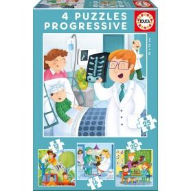 Puzzle Educa De Mayor Quiero Ser Progresivo 12-16-20-25 Piezas