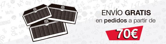 Envio gratis en pedidos de más de 70€